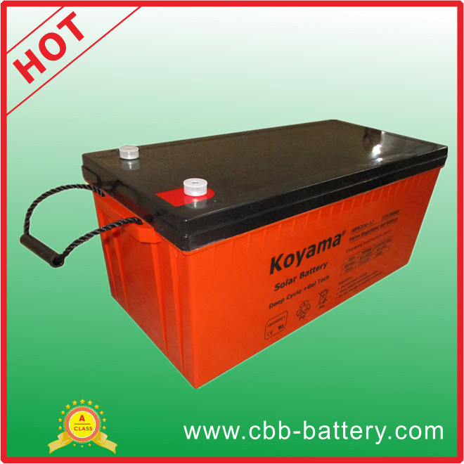 CE Certified Solar Battery Deep Cycle Gel Battery 12V 100ah pictures & photos