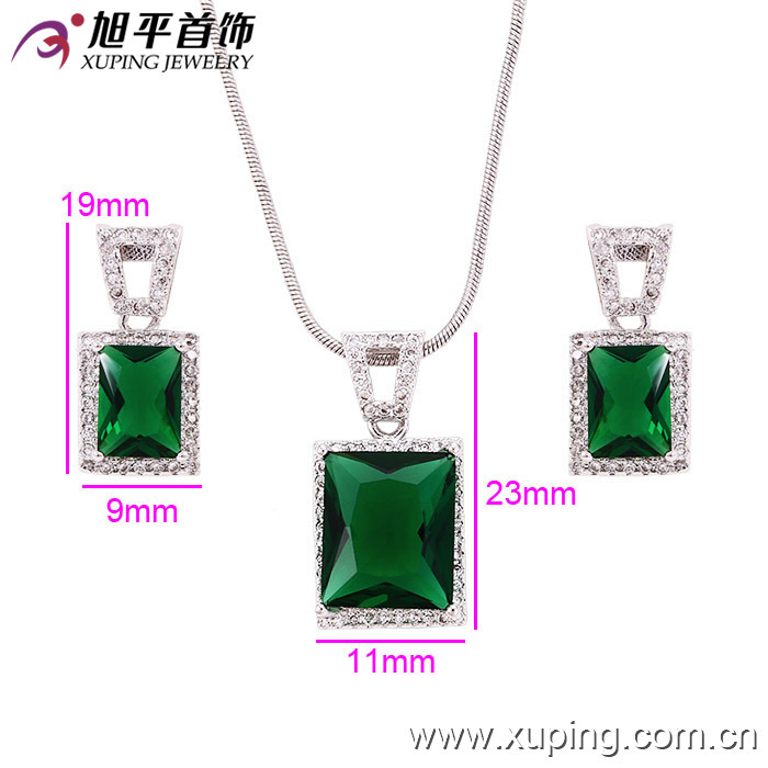Xuping Fashion Luxury Square Jewelry with Rhodium Plated (61102) pictures & photos