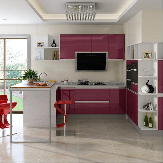 China High Gloss Kitchen Cabinet Colorful Kitchen Unit China