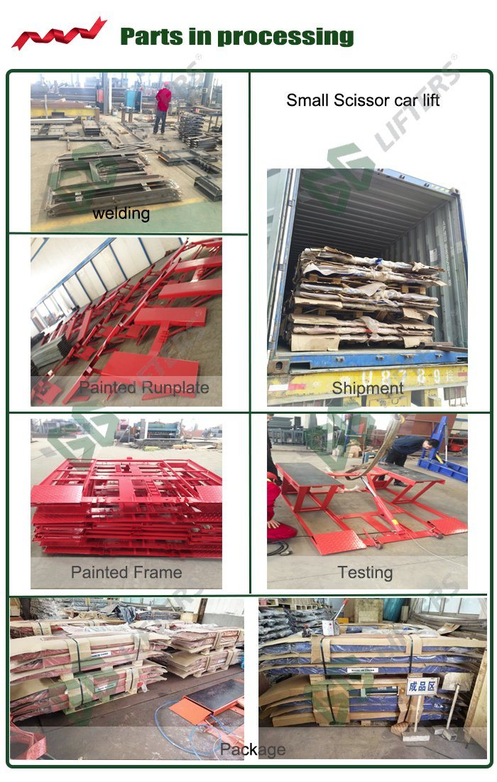 Hydraulic Rams Two Platforms Low Ceiling Car Lift