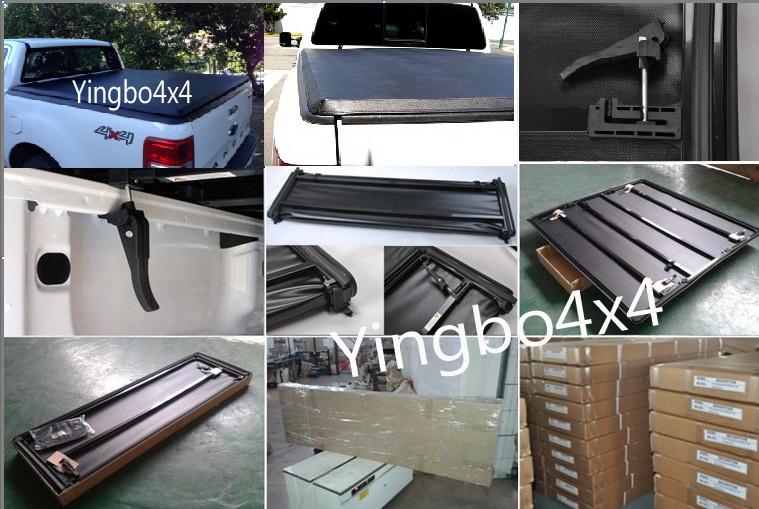 China Soft Tri Fold Tonneau Cover For Toyota Tacoma 6 Feet Bed 05