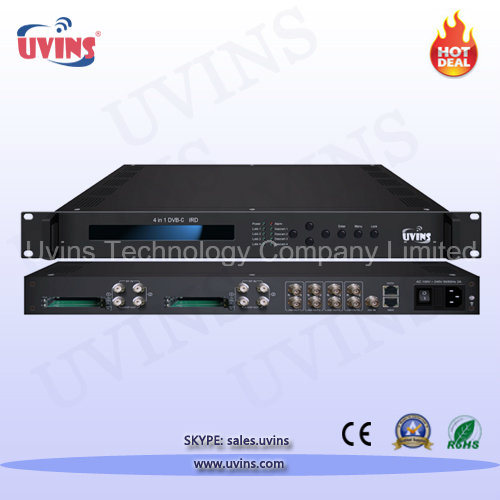 Digital Headend Satellite Receiver/Decoder 4-in-1 DVB-C/T/T2/S/S2 IRD