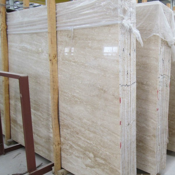 Natural White Travertine Marble Slab