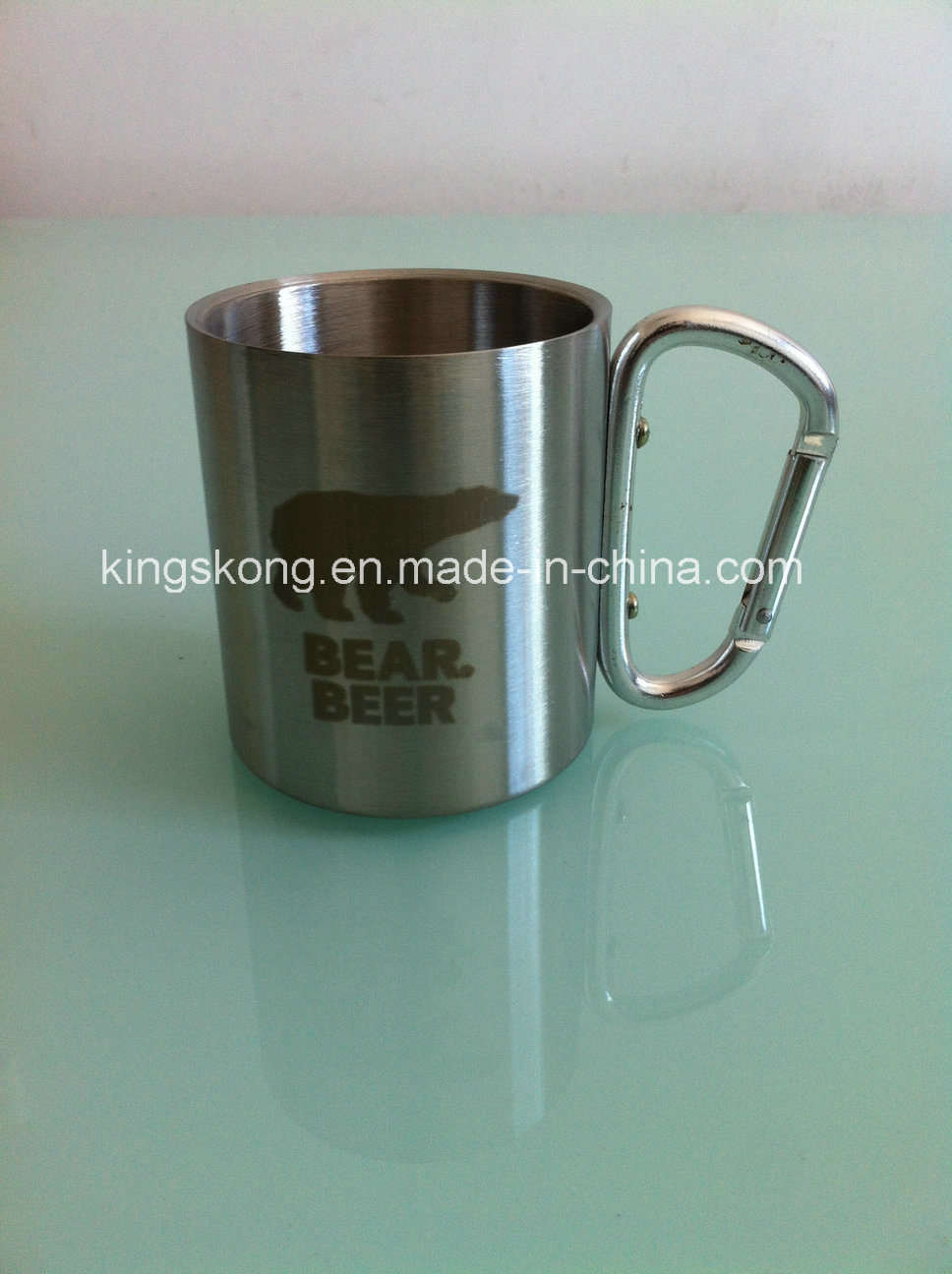 China Favorable Price Stainless Steel Mug with Carabiner Handle ...
