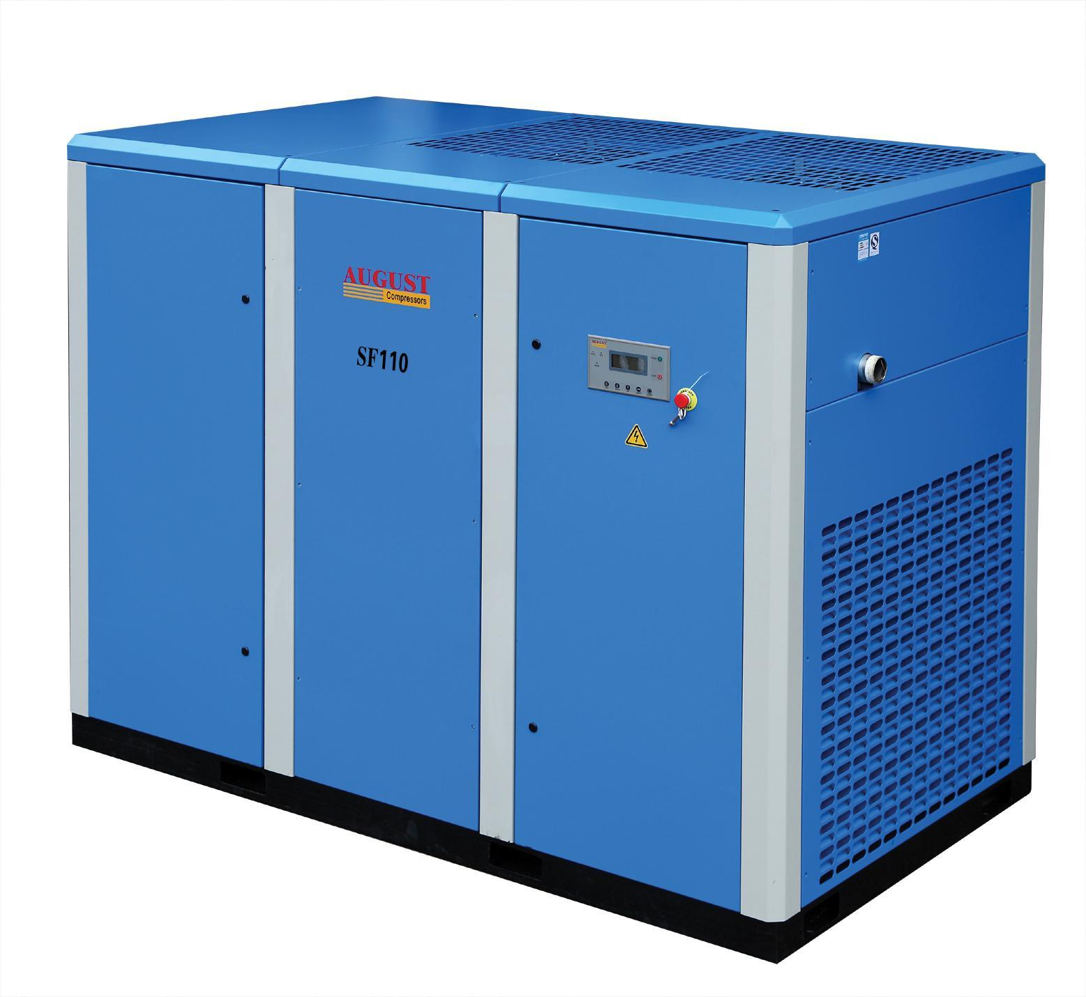 110kw/150HP August Stationary Air Cooled Screw Compressor