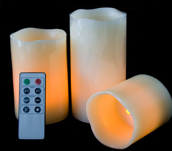 LED Candles with Remote Control for Party Bar Village Floor Christmas Decorative Birthday Gift Dinner Votive