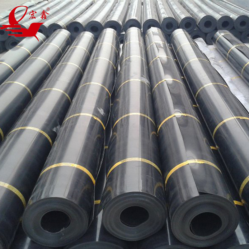 Black Plastic Sheeting Fish Farm Pond Liner Hdpe Geomembrane For Pool