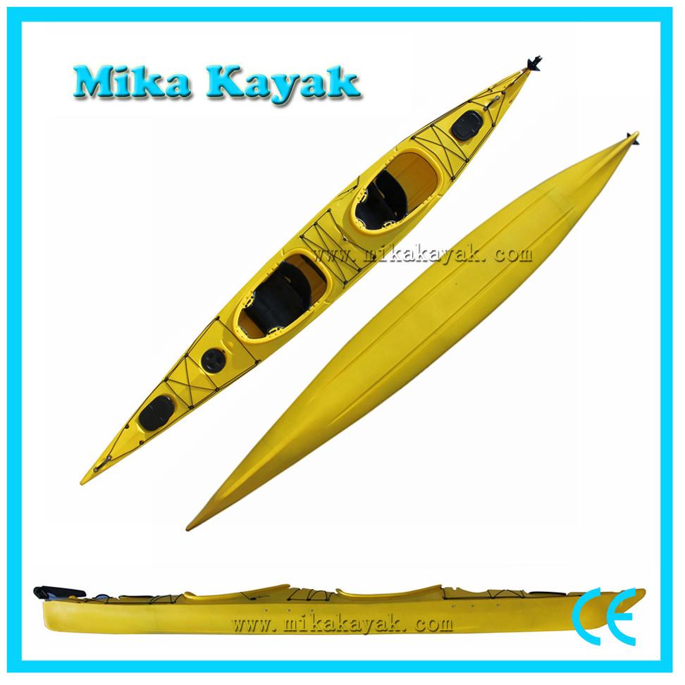 China 2 Person Sea Ocean Kayak Rudder Plastic Boat Sale - China