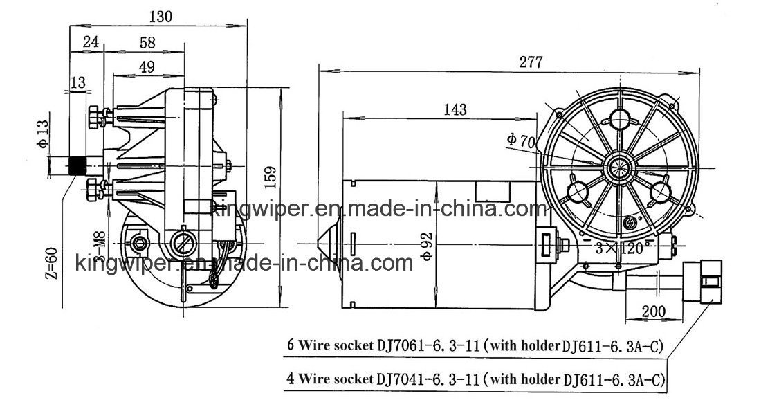 china zd1830 2830 wiper motor for passenger cars trucks and buses rh kingwiper en made in china com