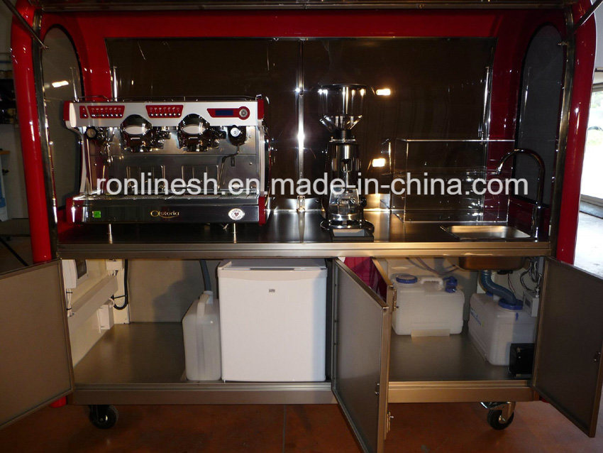 Mobile Coffee Trailer/ Coffee Carts/ Food Cart /Food Trailer/Snack Trailer/Coffee Machine Trailer/Chariot /Catering Trailer with ECE