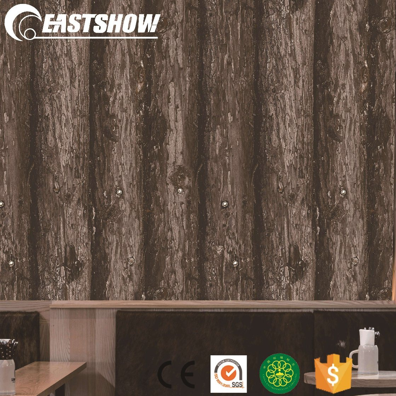 3D Natural Wood Design PVC Wallpaper for Home