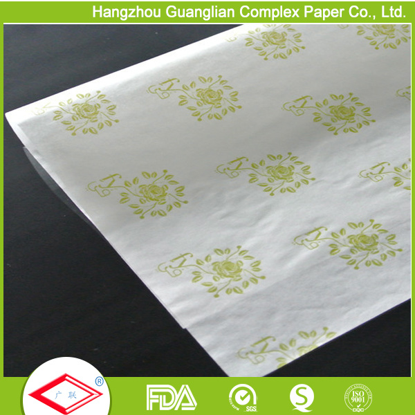 Custom Printed Greaseproof Paper Parchment Paper for Burger/Sandiwch Wrap pictures & photos