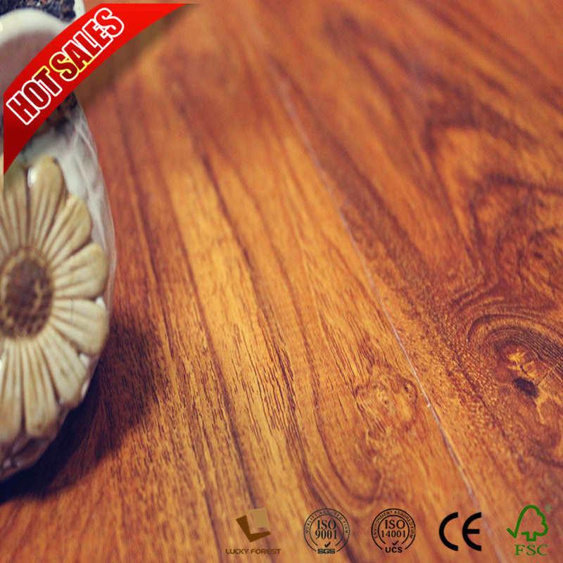 China Hdf E1 Wood Grain Surface Non Slip Laminate Flooring Hardwood Building Material