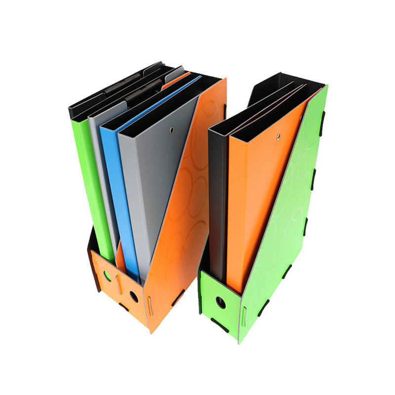 3 Columns Office Desk Plastic File Box Organizer