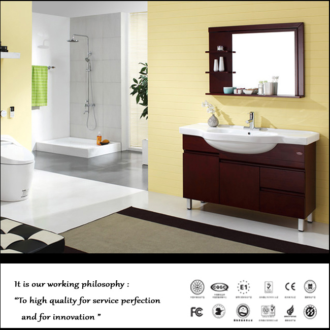 Wooden MDF Bathroom Cabinet (ZH026)