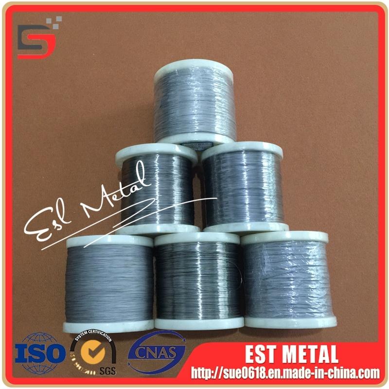 China Cp Grade 1 Titanium Fine Wire for E-Cigarette - China Titanium ...