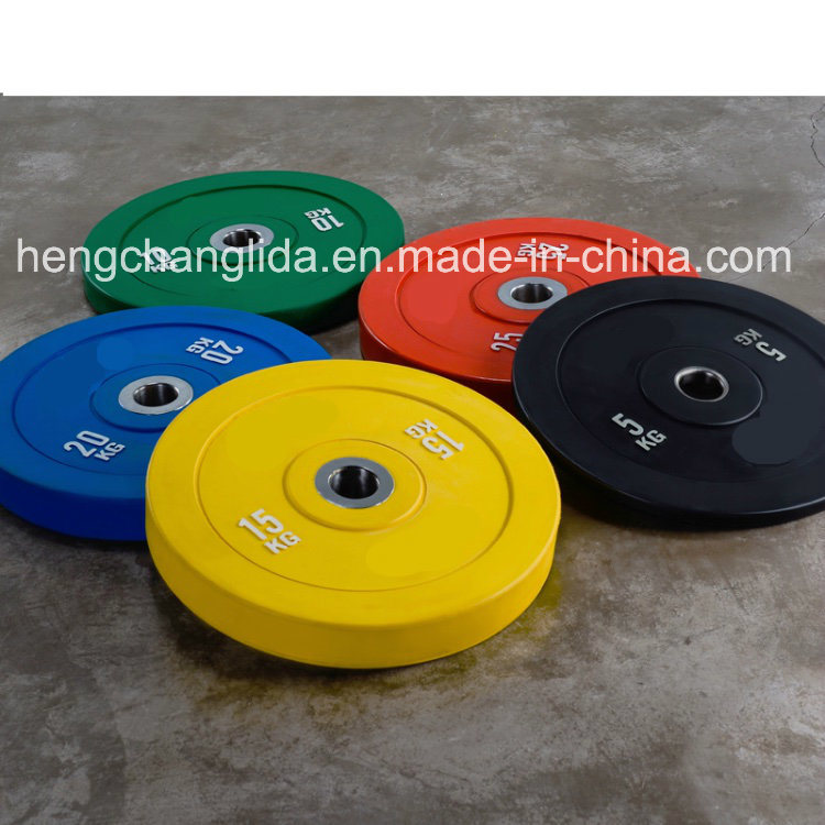 China Crossfit Color Rubber Bumper Plate Weight Lifting