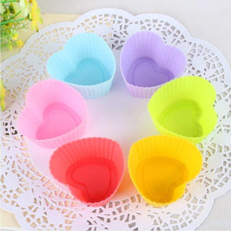 Soft Round Silicone Cake Mold Fondant Decorating In Chocolate Cupcake Liner Baking Cup