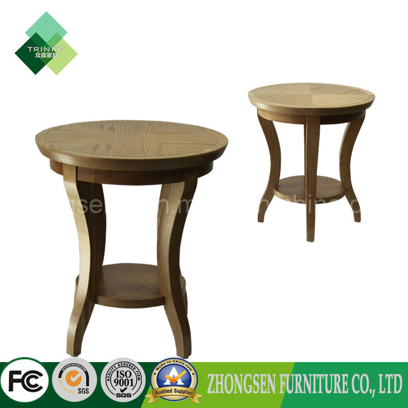 China Manufacturer Wooden Round Tea Table Used On Living Room   China Side  Table, Wooden Table