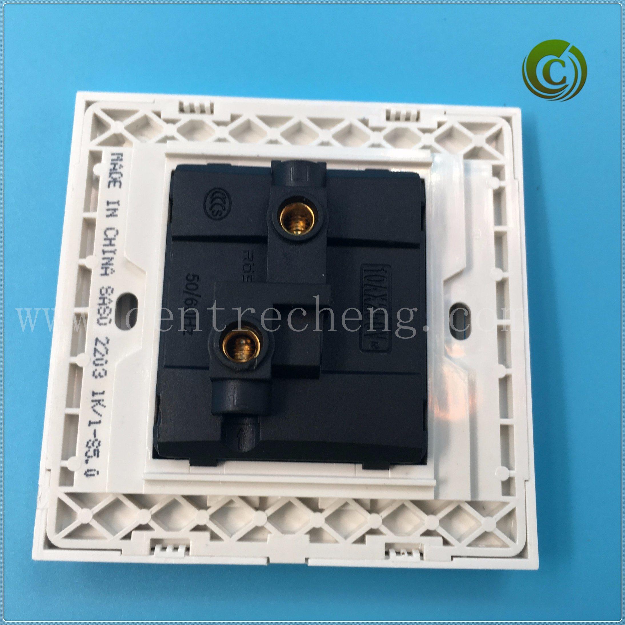China 2018 Foshan 2 Gang Way Big Plate Switch Electrical Light Wall