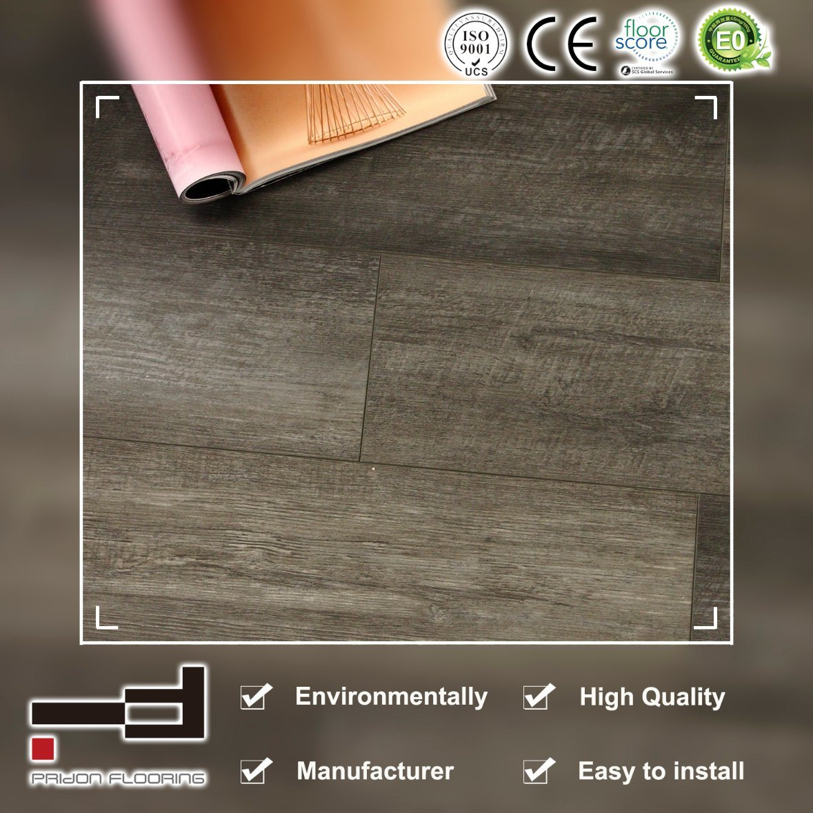 China Pvc Floor Loose Lay Tile Magnetic Flooring Lvt