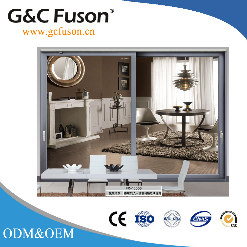 China High Quality Wooden Frame Aluminium Sliding Glass Door China