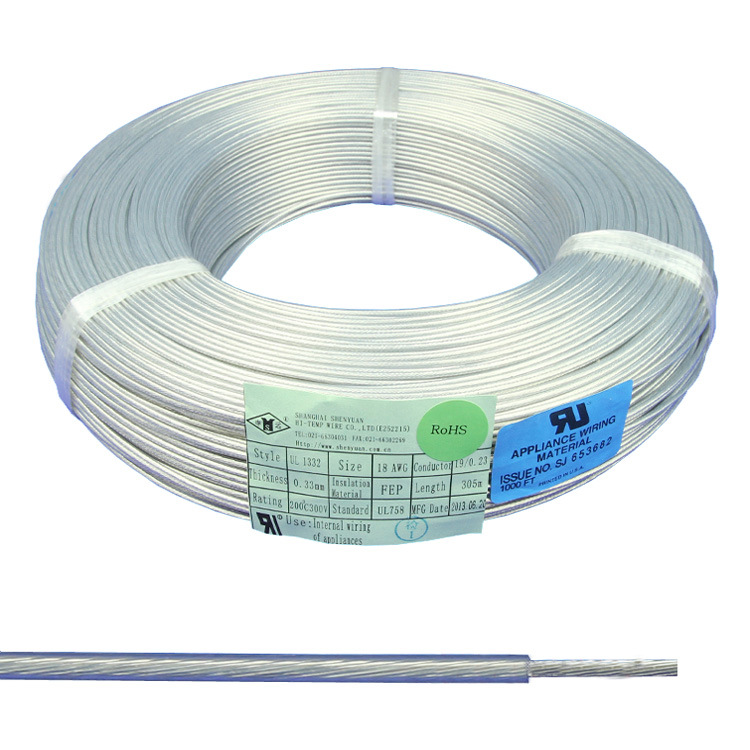 China 300V Black Wire Copper Conduct FEP Teflon Insulation Ground ...