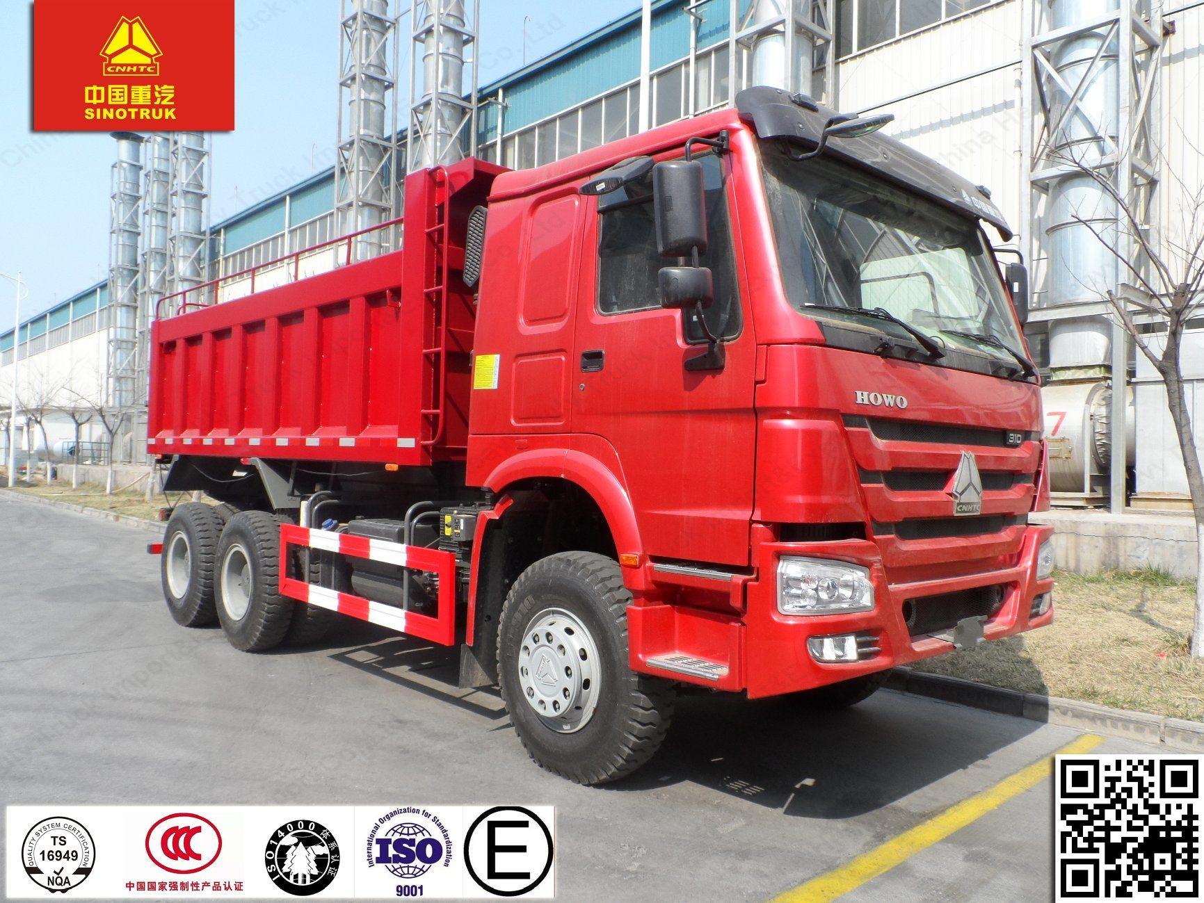 China Africa Popular HOWO 6X4 371HP 10 Wheelers Dump Truck