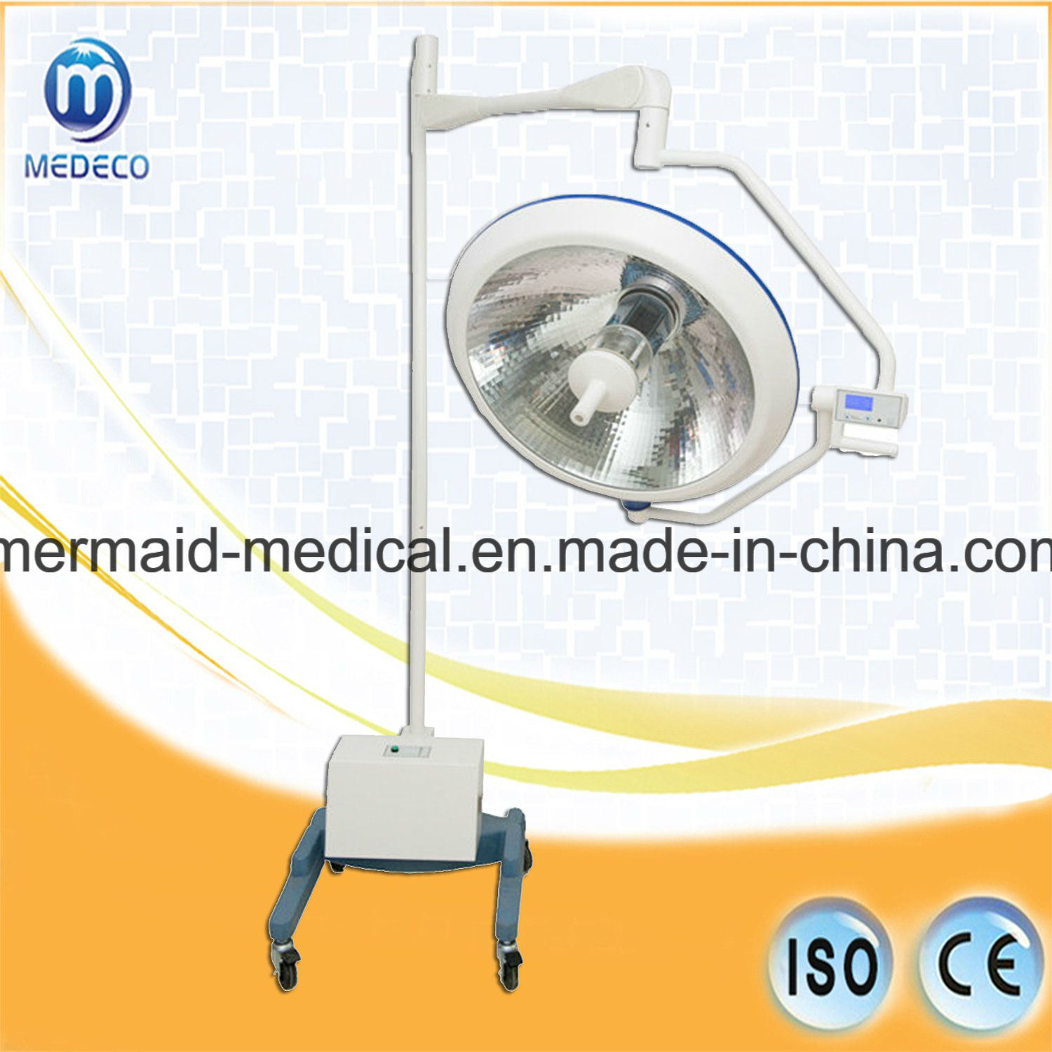 Surgical Equipment Operation Halogen Therapy Light with Ce/ISO Approved (Mobile type with battery XYX-F700 ECOA035) pictures & photos