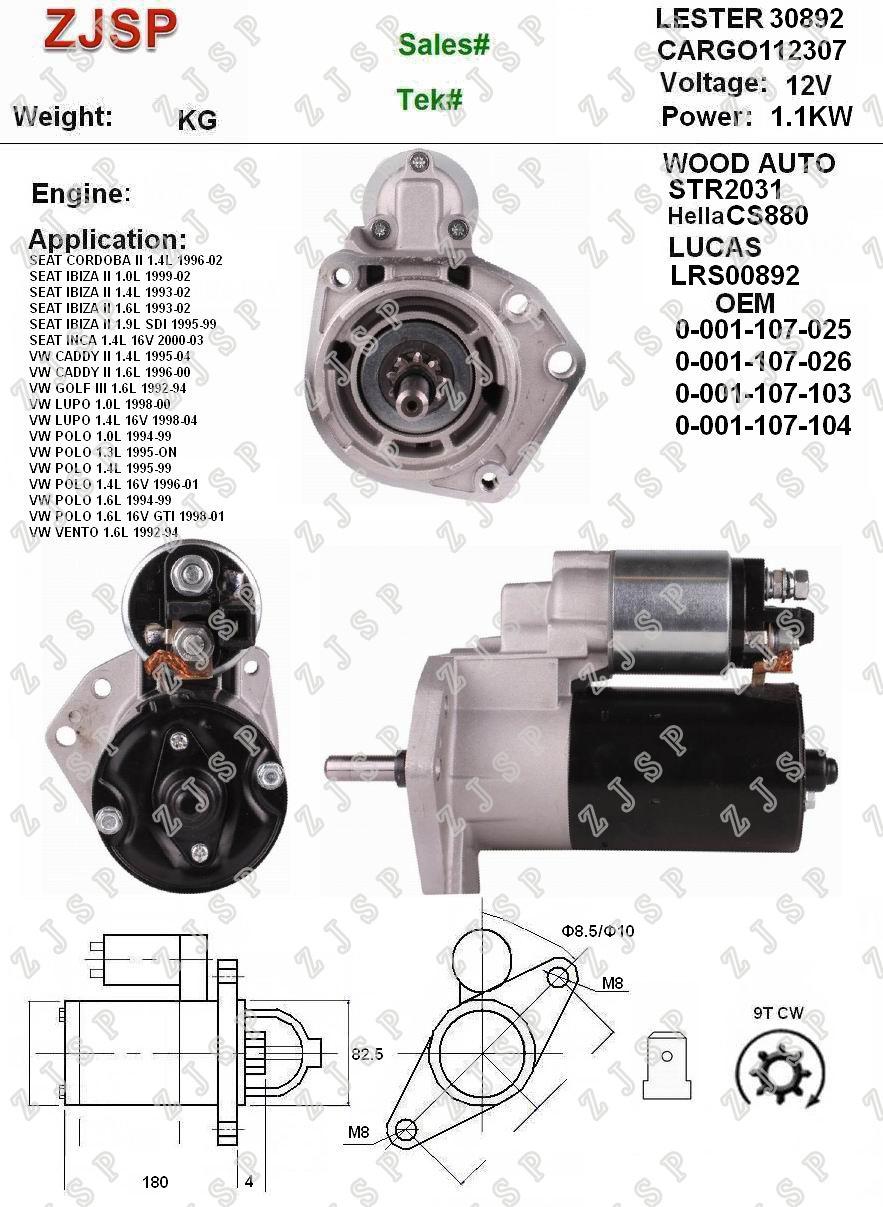 Bosch 0 001 107 103 Anlasser