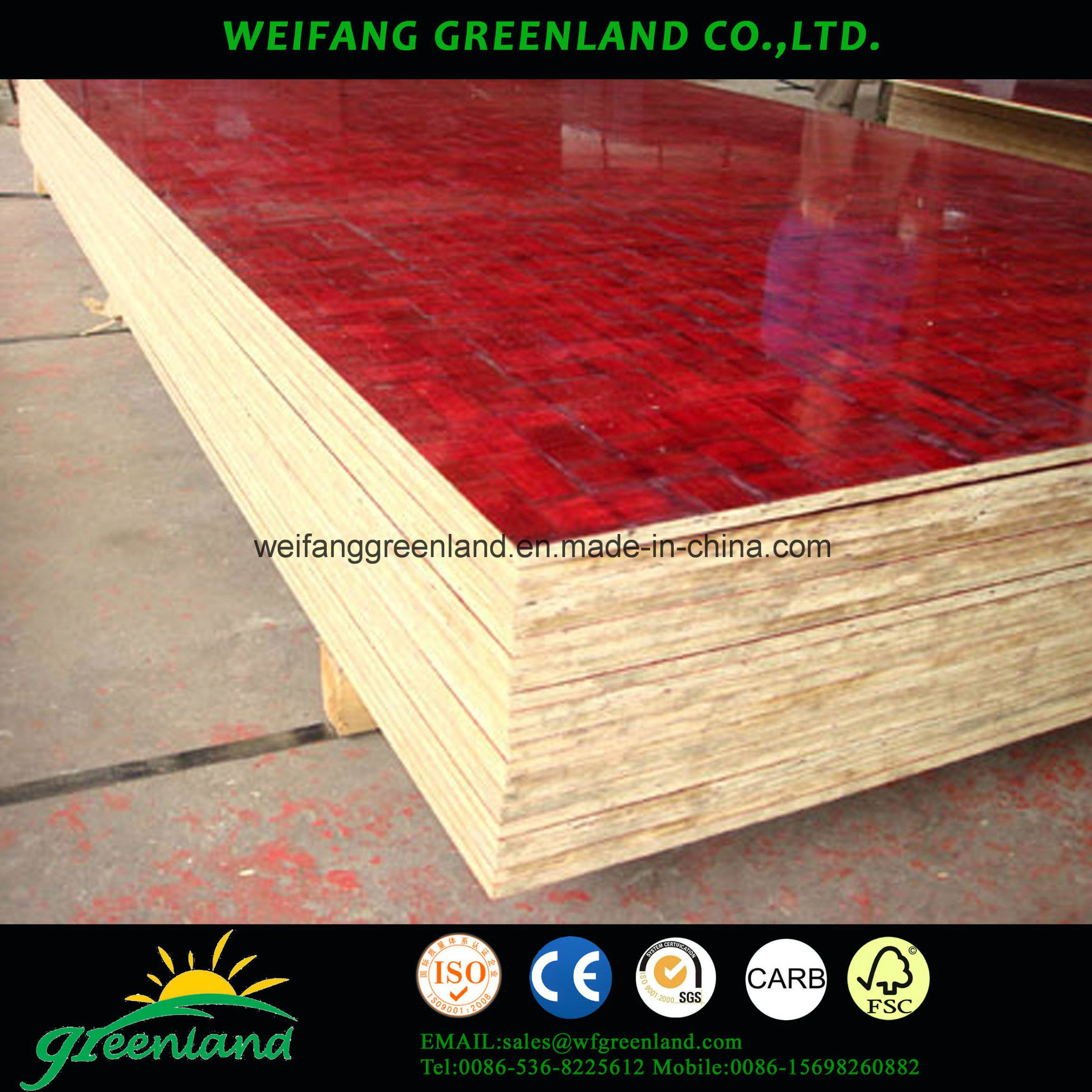 Bamboo Film Face Shuttering Plywood for Construction
