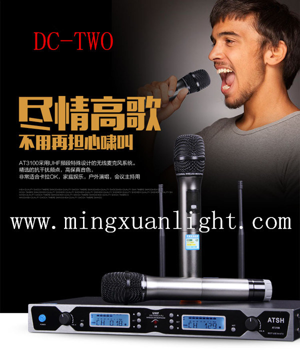 Stage Audio Equipment DC-Two Professional Hadheld Wireless Microphone