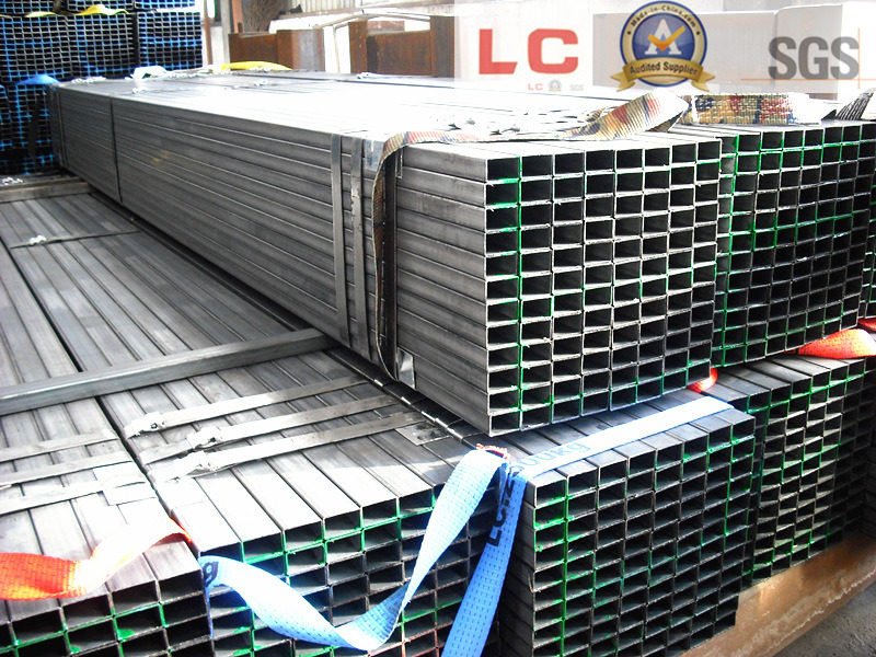 50mmx30mm Black Rectangular Steel Pipe pictures & photos