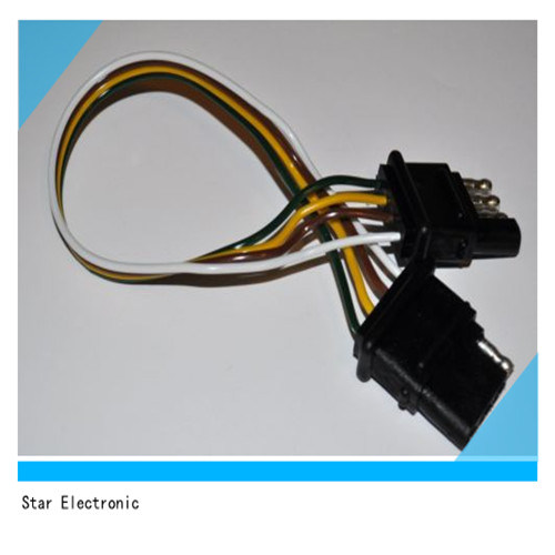 China Vehicle Wiring Harness with 4-Pole Flat Trailer ... on