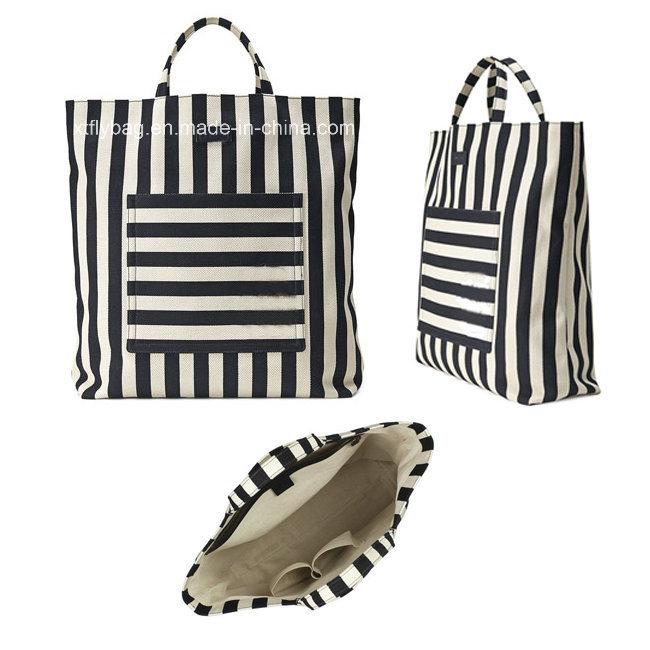 China Men′s Fshion Striped Cotton Linen Canvas Tote Bag - China Canvas Bag,  Promotional Bag 9b1c2efc47