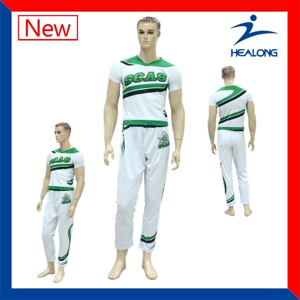 Healong Fully Sublimated Ladies and Men Customized Cheerleading Unifroms Dresses pictures & photos