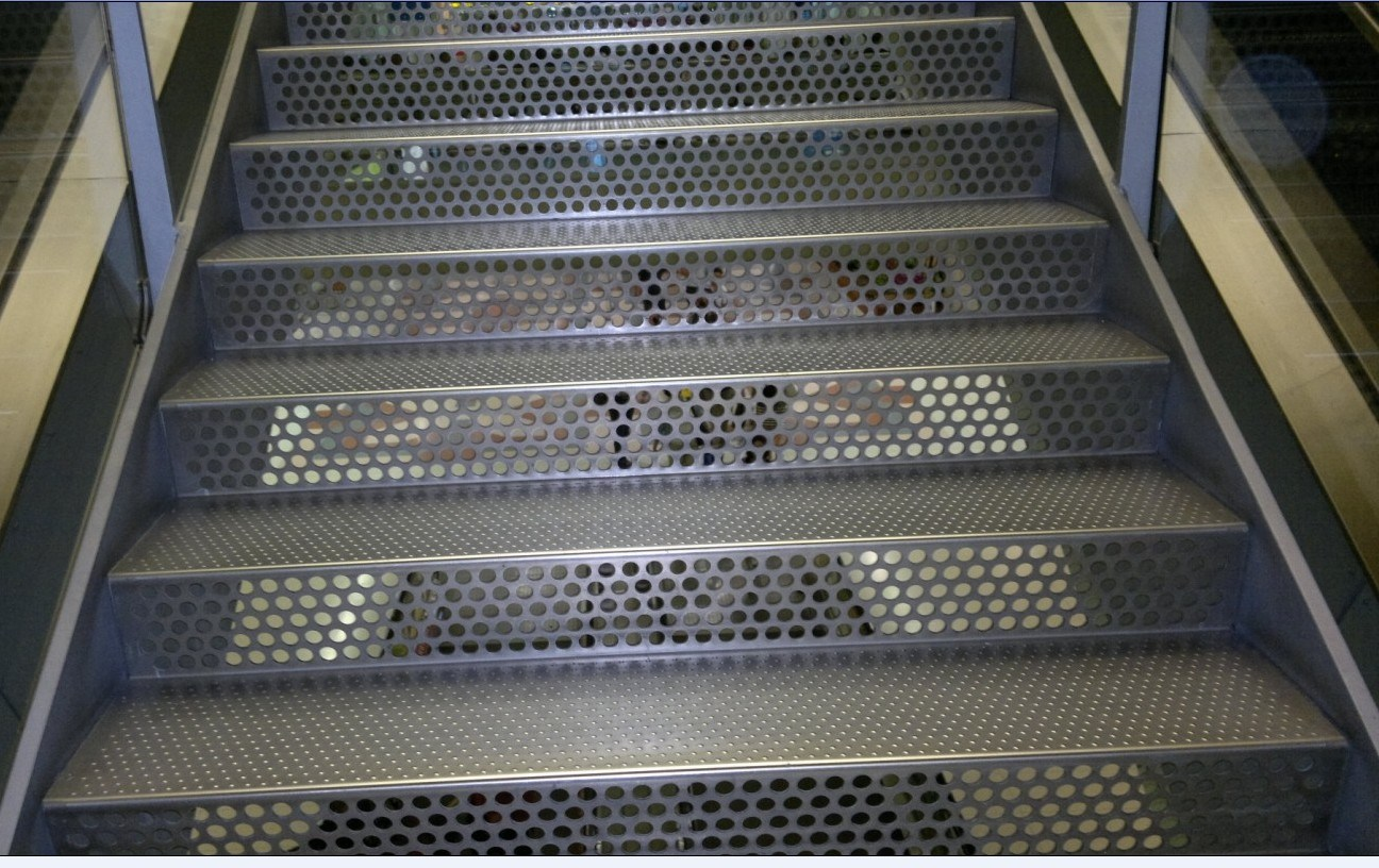 china perforated aluminum panel for stairs