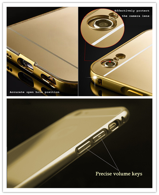 new style 2874a 84ed5 [Hot Item] New Aluminum Bumper Mirror Cell Phone Case for Samsung Galaxy