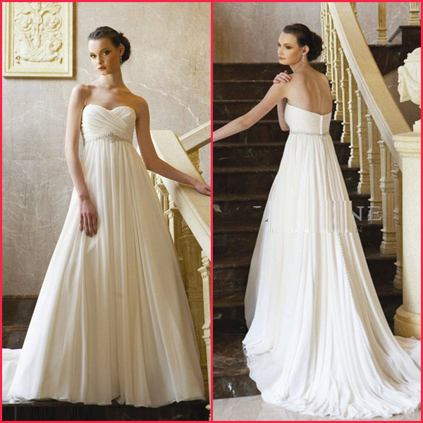 Ivory Vs White Wedding Dress Robes De Mariage Perl Es D Empire