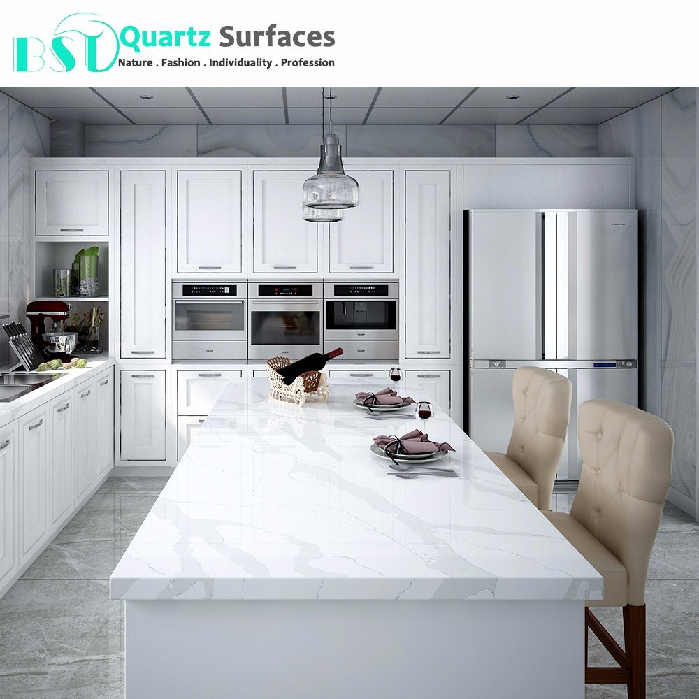 [Hot Item] Statuario Quartz Stone Kitchen Dining Table Top