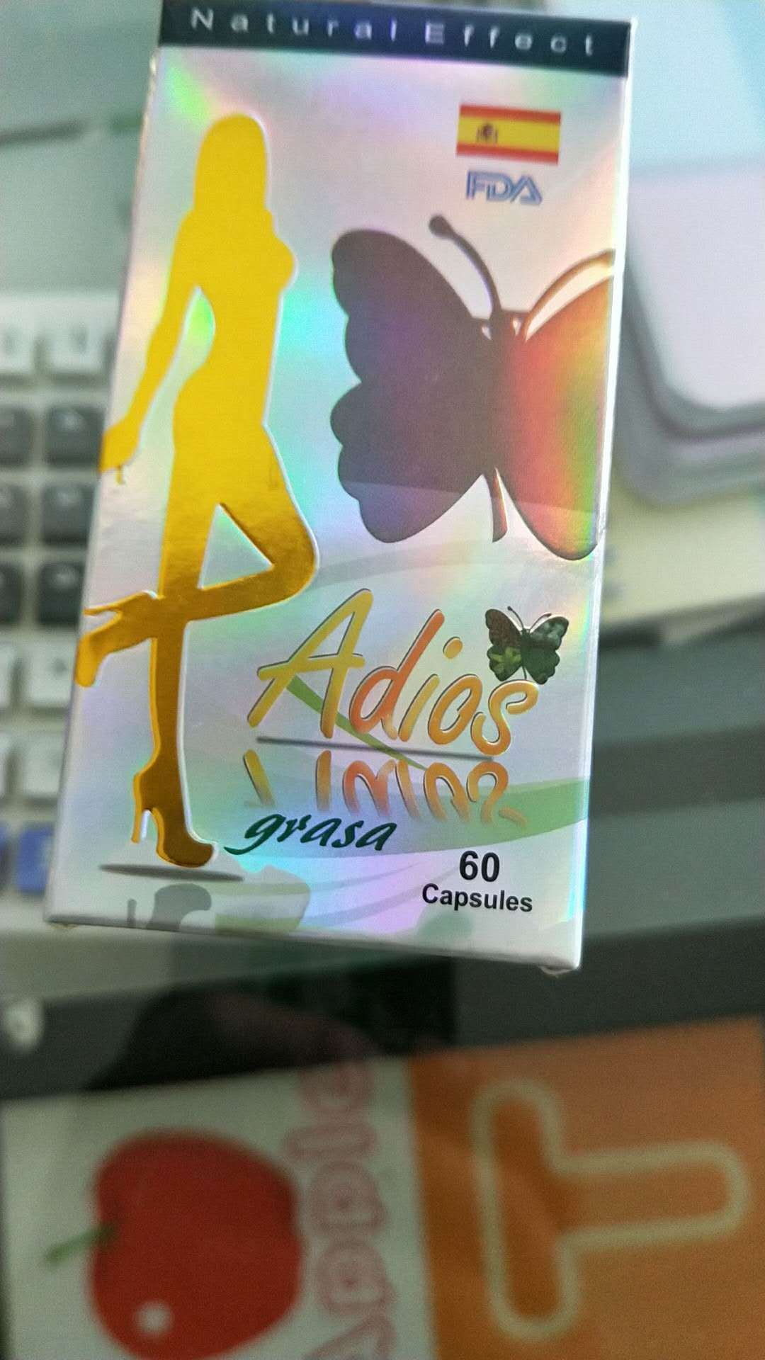 Hot Item Gold Adios Grasa Weight Loss Plant Extract Slimming Capsules