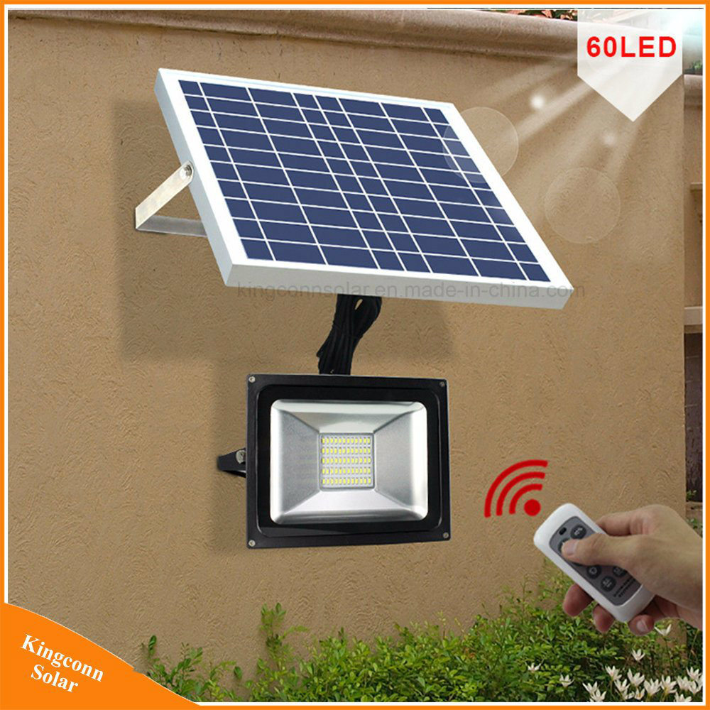 China 60 LED Flood Light Solar Garden Wall Lawn Lamp - China LED ...