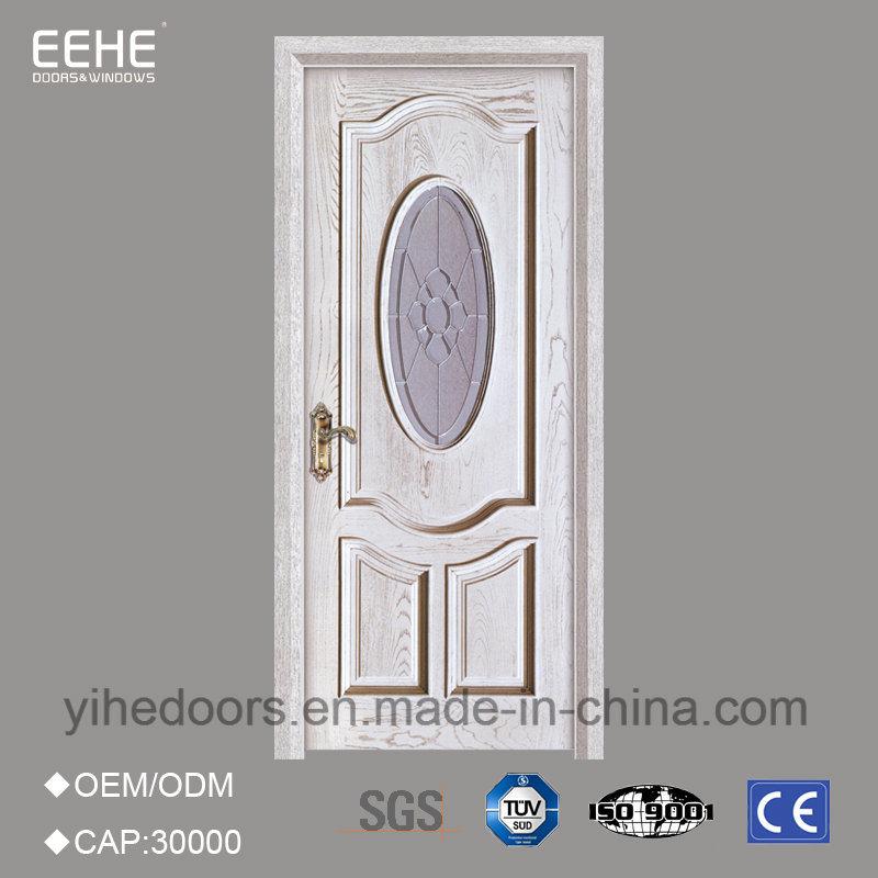 China Modern Style Interior Wood Door With Craft Glass China