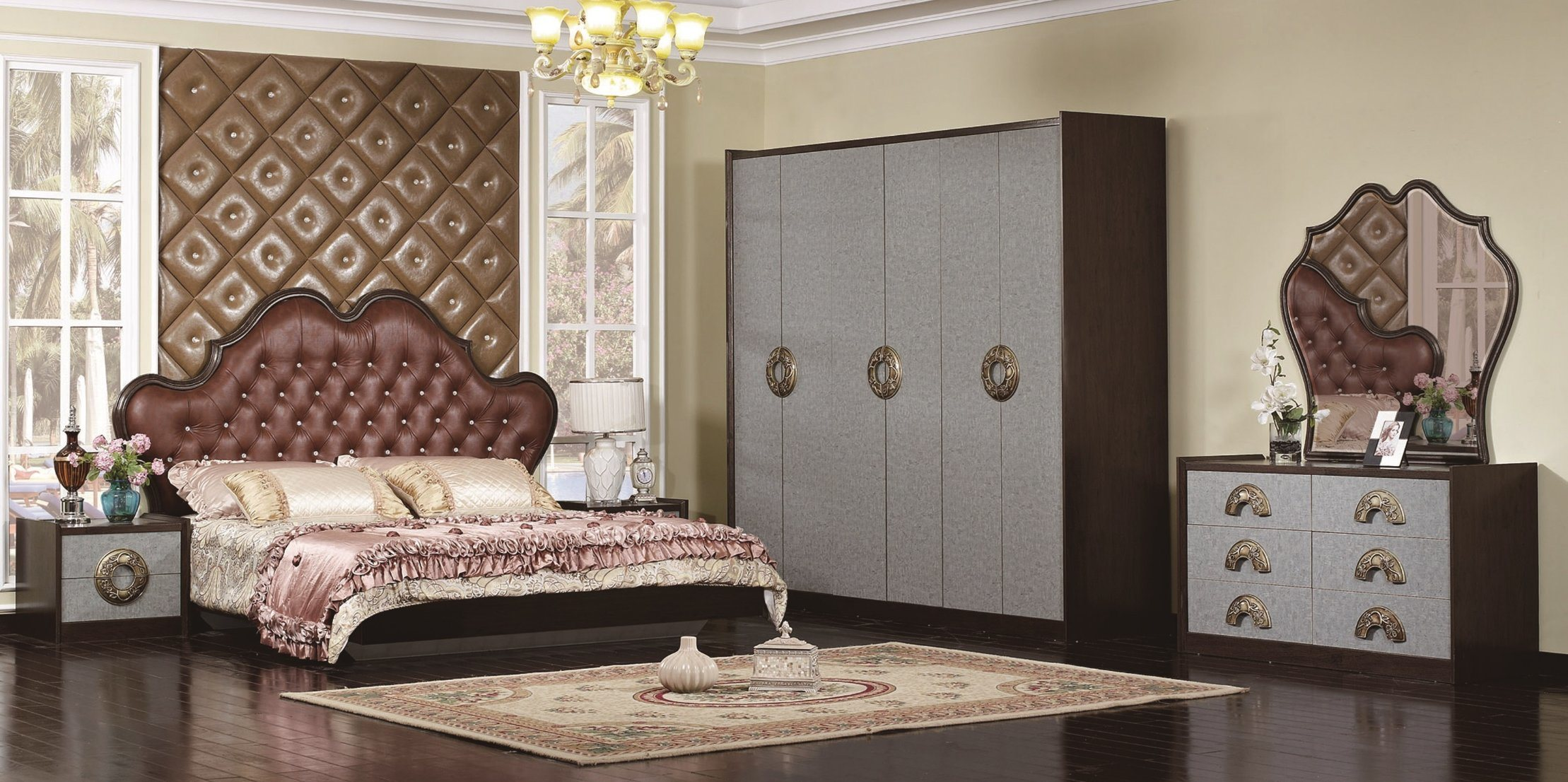 China New Design Modern Furniture Bedroom Sets Melamine ...