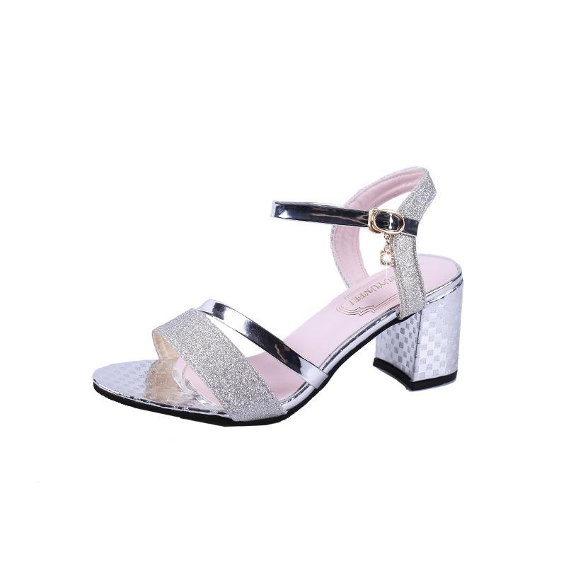 China Women Sandal MID Block Heel Ankle