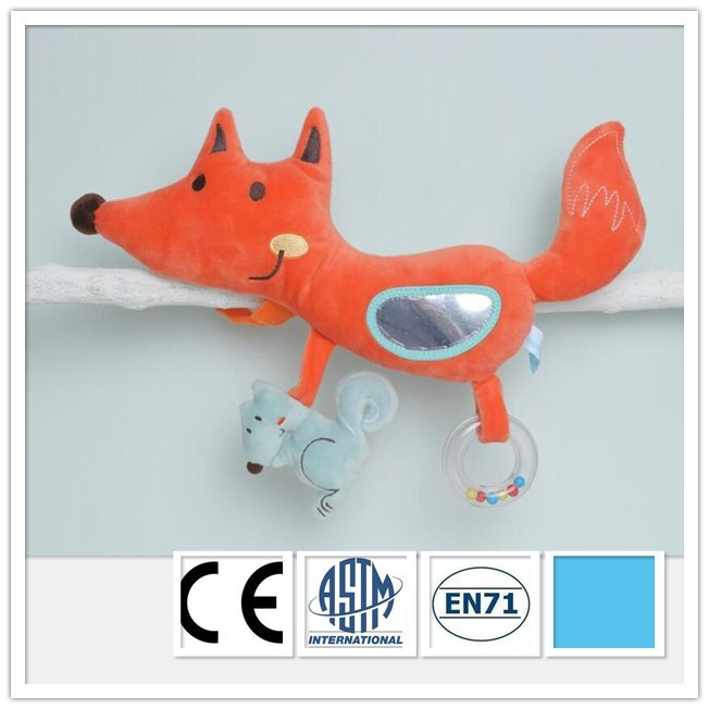 Muti Function Baby Plush Fox Baby Crib Toy