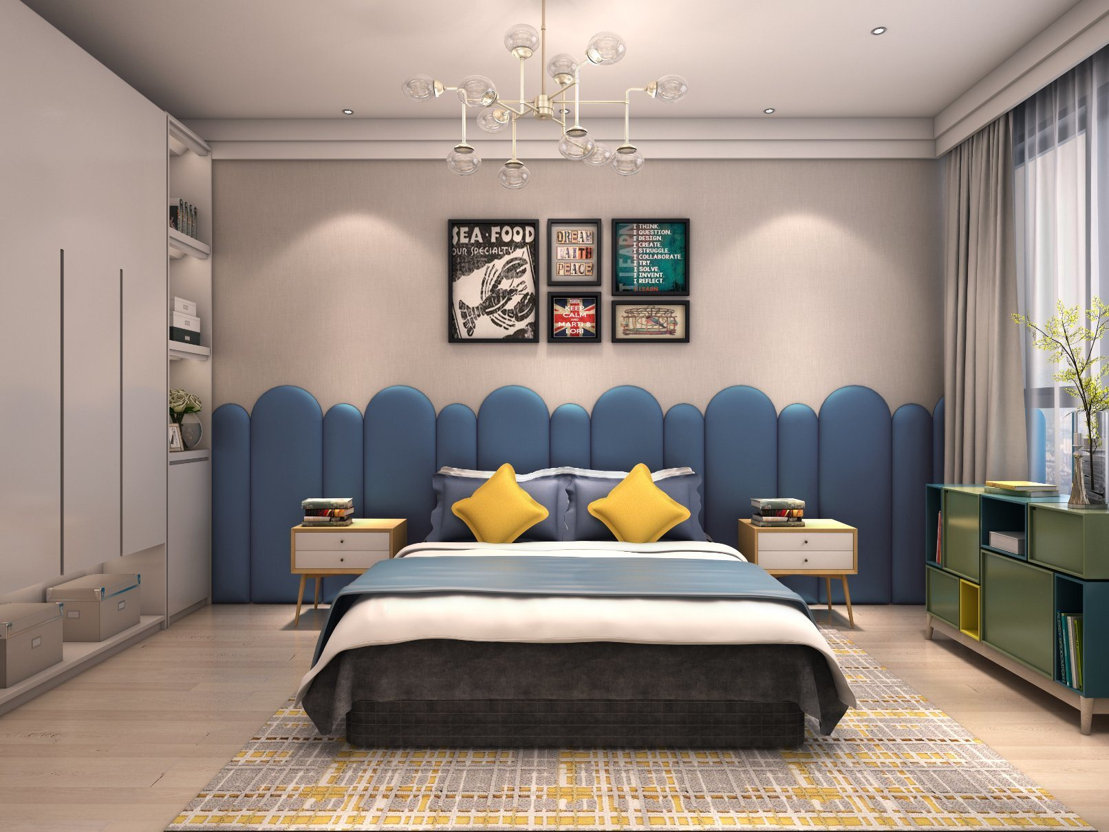 Blue Suede Leather Covered Softness Bed Headboard Panel China Building Material Wallpaper 3d Foam Made In China Com