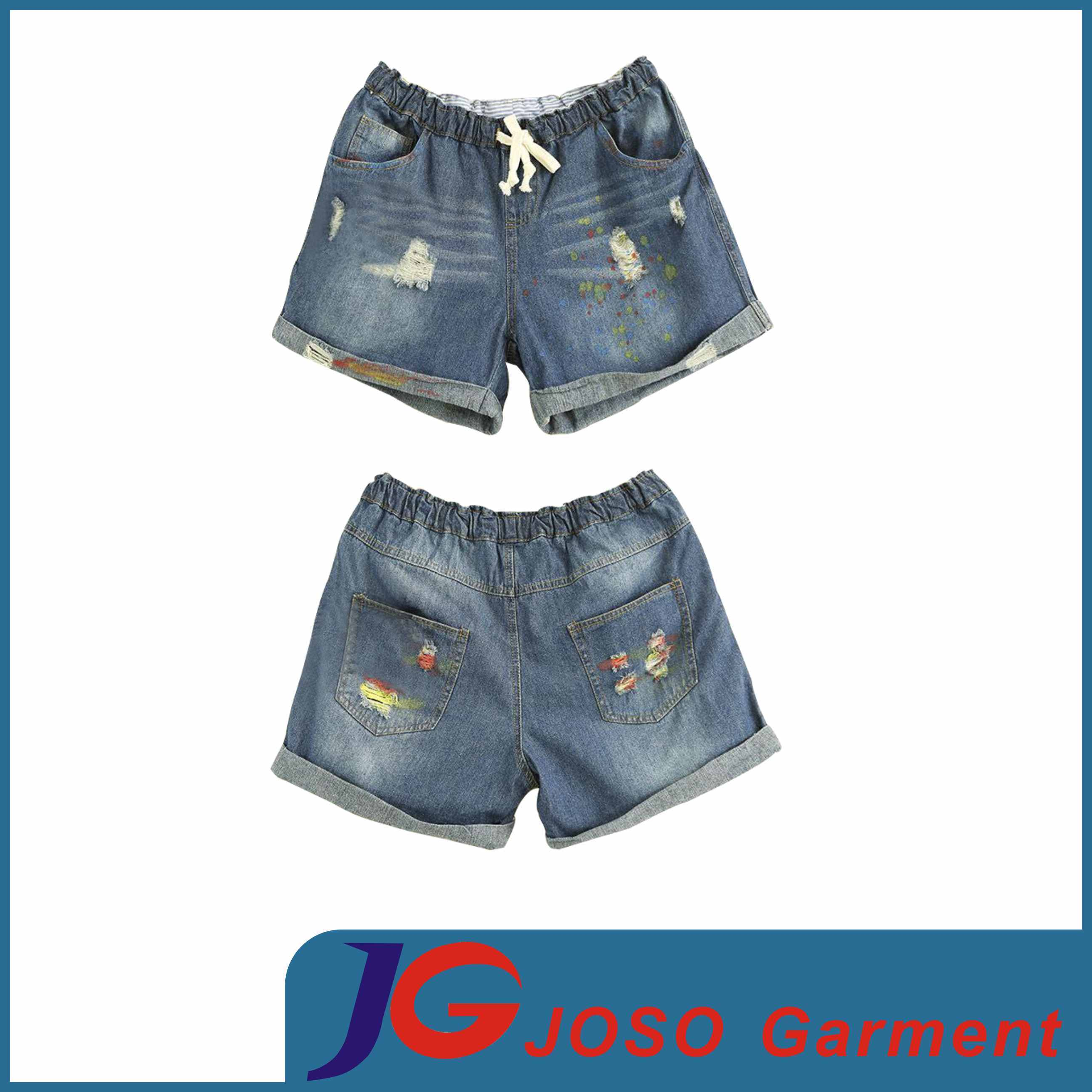 various colors great look low priced China Women′s Sport Elastic Denim Shorts (JC6068) - China Women ...