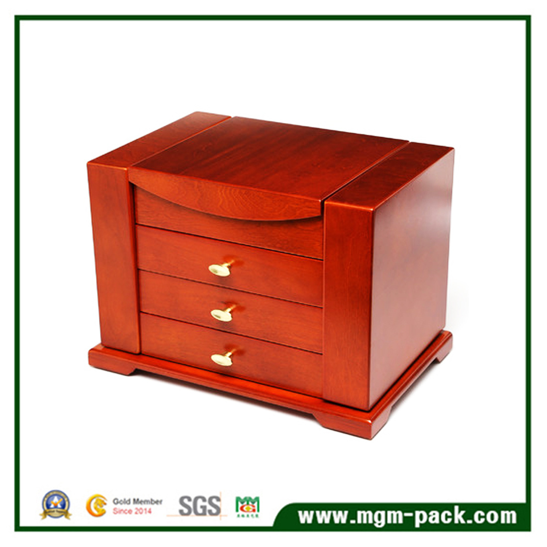 Hot Item Luxury Custom Thick High Quality Wooden Jewelry Box