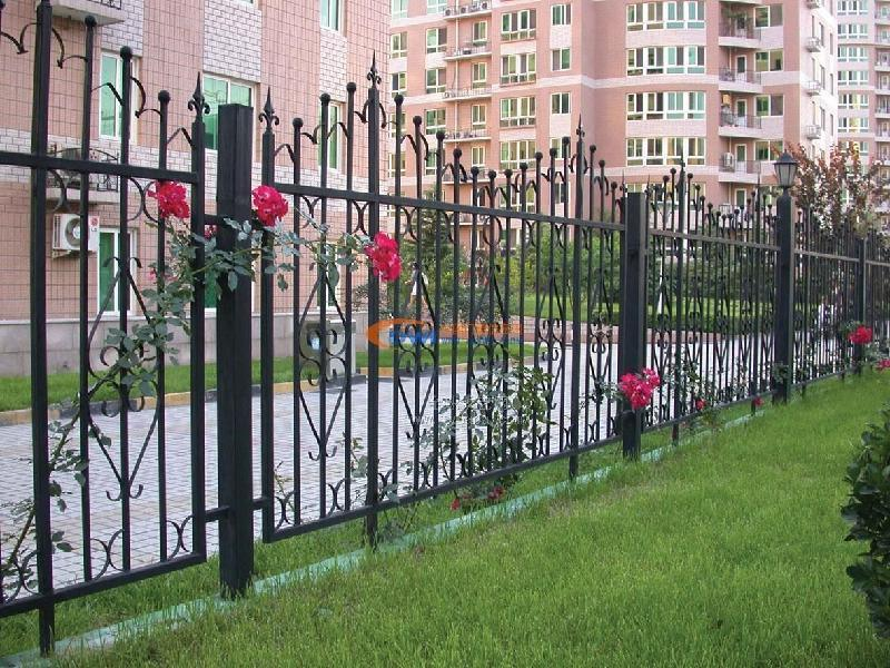 Decorative High Quality Wrought Iron Security Fence